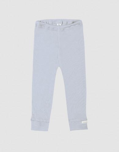 Baby organic wool/silk leggings- light blue