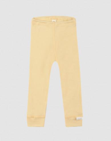 Baby Organic Wool/Silk Leggings- Light Yellow