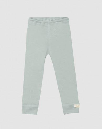 Baby organic wool/silk leggings- Pastel Green