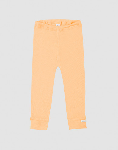 Baby organic wool/silk leggings- apricot