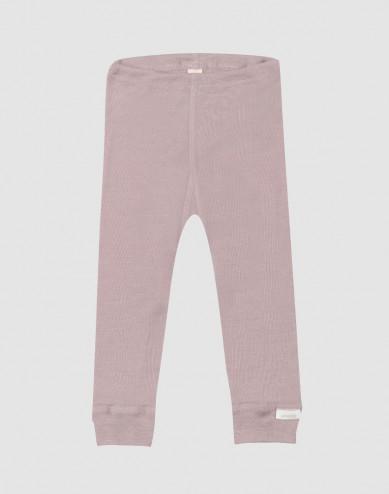 Baby organic wool/silk leggings- Pastel Pink