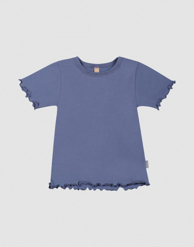 Children's organic cotton T-shirt with frilled edges
