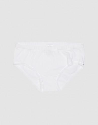 Girls' cotton briefs- white