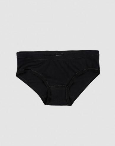 Girls' cotton briefs- black