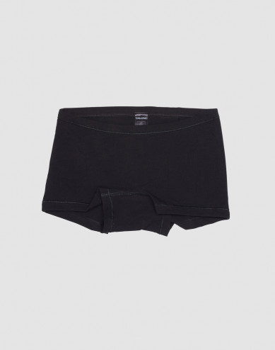 Girls' cotton hipsters- black