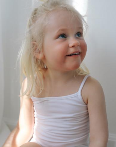 Girls' cotton top- white