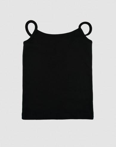 Girls' cotton top- black