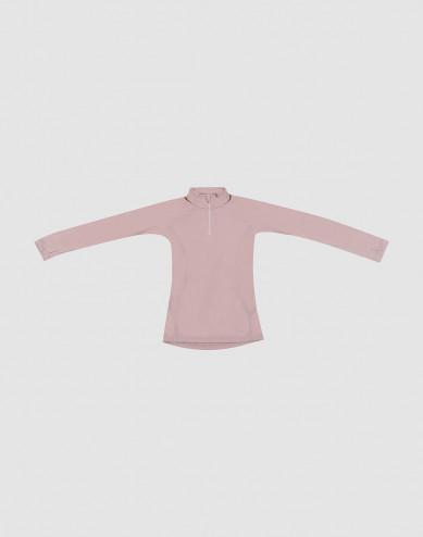 Children's exclusive merino wool zip top- Lilac