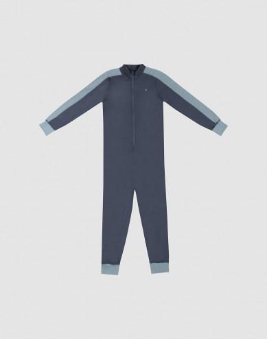 Children's exclusive merino wool jumpsuit- Blue Grey