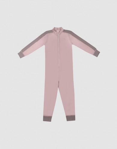 Children's exclusive merino wool jumpsuit- Lilac