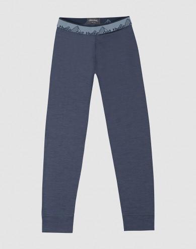 Children's exclusive natural merino wool leggings- Blue Grey