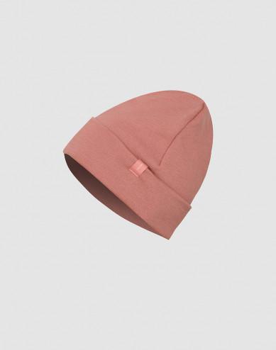 Children's wool terry hat- Dark Pink