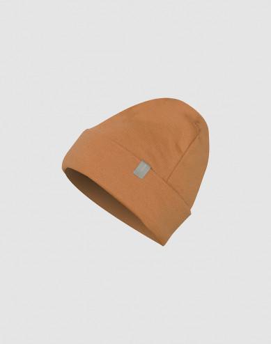Children's wool terry hat- Caramel