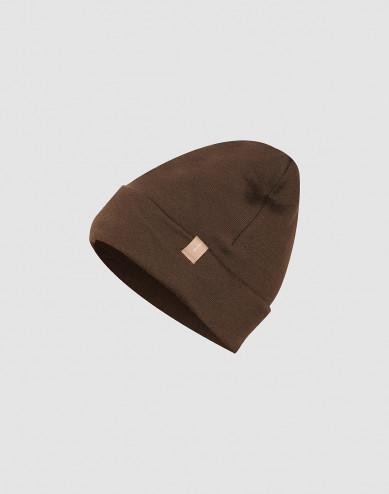 Children's wool terry hat- Dark Chocolate