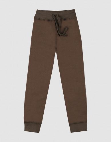 Children's wool terry trousers- Dark Chocolate