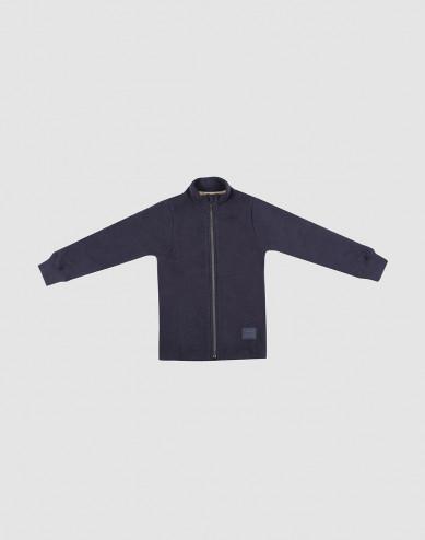Children's merino wool fleece jacket- Blue