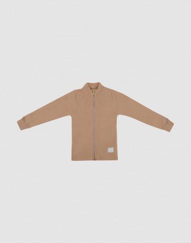 Children's merino wool fleece jacket- Cinnamon