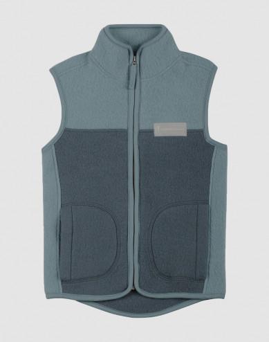 Children's merino wool fleece vest