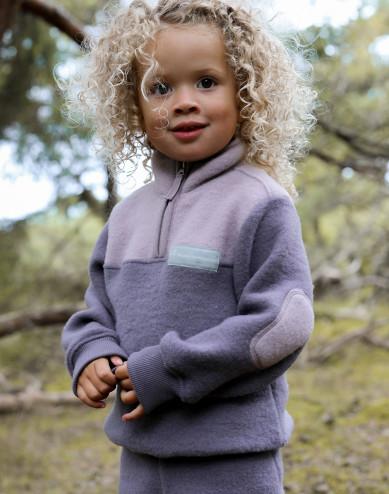 Children's merino wool fleece jacket