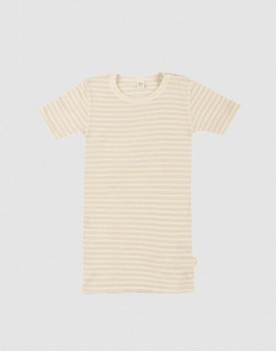 Kids organic wool/ silk T-shirt- Beige/Nature