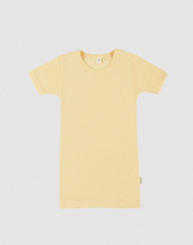 Kids' Organic Wool/Silk T-shirt- Light Yellow