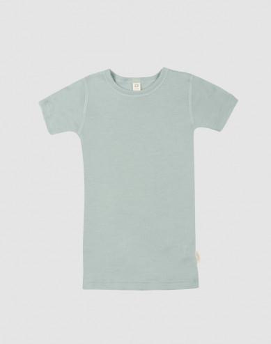Children's wool/silk T-shirt- Pastel Green
