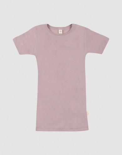 Children's wool/silk T-shirt- Pastel Pink