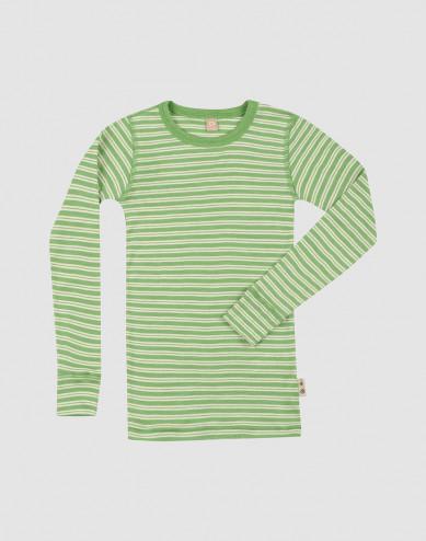 Children's merino wool/silk long sleeve top