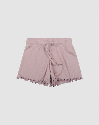 Children's organic wool/silk shorts- Pastel Pink