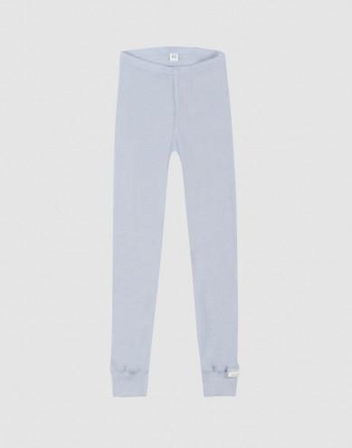 Children's organic wool/silk leggings- light blue