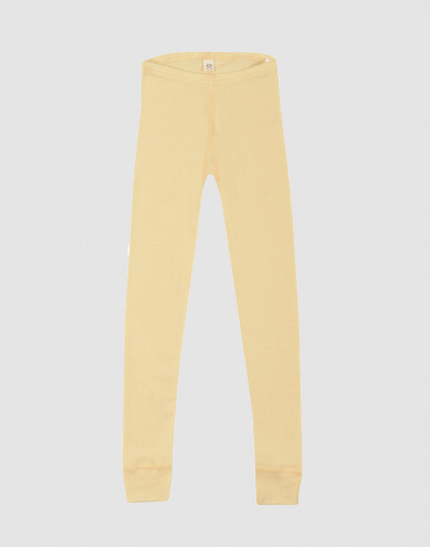 Kids' Organic Wool/ Silk Leggings Light Yellow