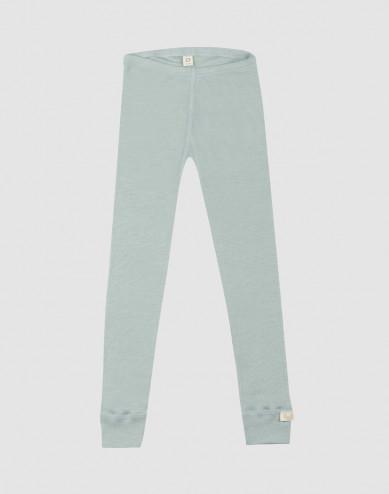 Children's organic wool/silk leggings- Pastel Green