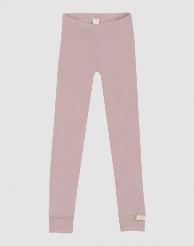 Children's organic wool/silk leggings- Pastel Pink