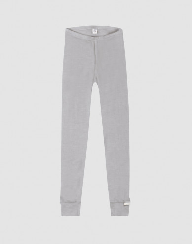 Children's organic wool/silk leggings- grey