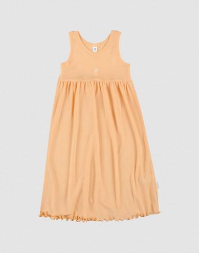 Children's organic wool/silk dress- apricot