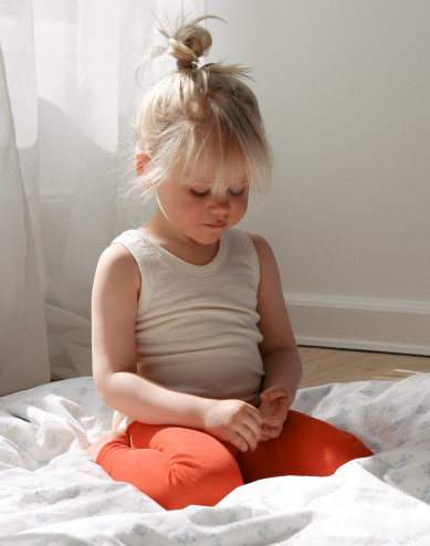 Children's merino wool/silk leggings