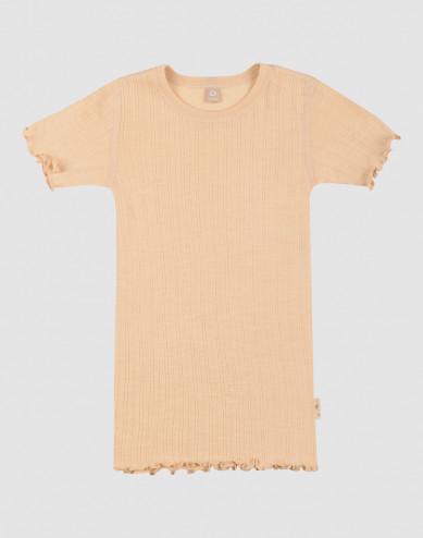 Children's merino wool/silk pointelle T-shirt