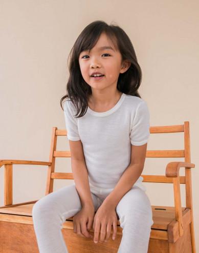 Kids' merino wool T-Shirt- nature