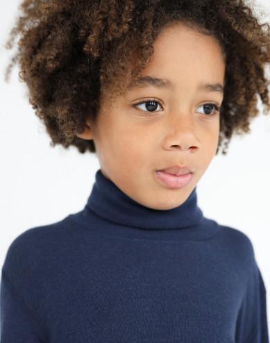Children's merino wool turtleneck