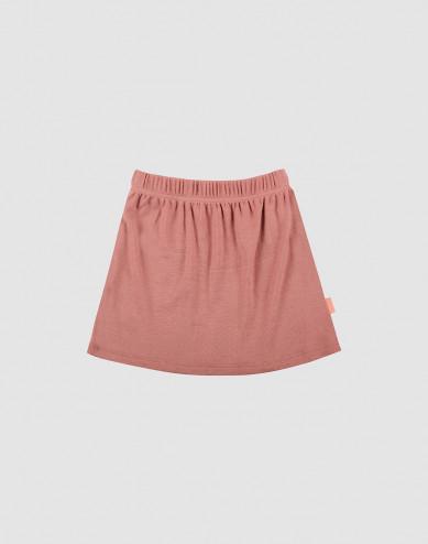 Children's merino wool skirt- Dark Pink