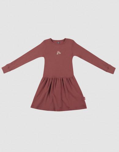 Children's wool dress- rouge