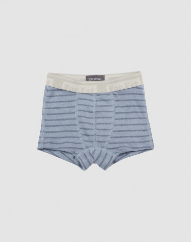Boys organic merino wool boxers- Blue Stripe
