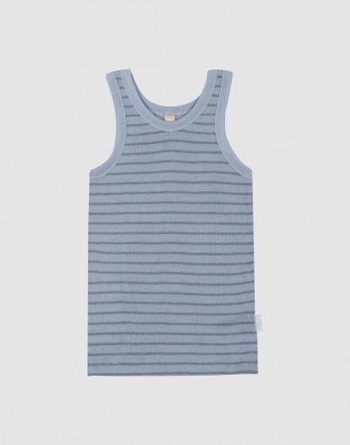 Children's wool vest- Blue Stripe