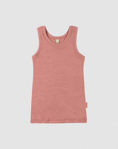 Children's wool vest- Dark Pink