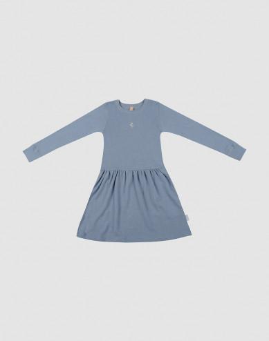 Children's wool dress- Blue