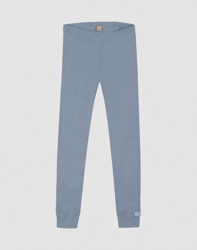 Children's wool leggings- Blue