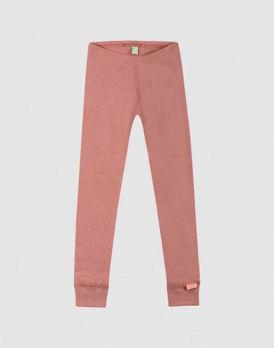 Children's wool leggings- Dark Pink