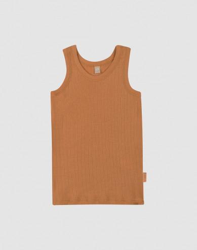 Children's wool vest- Caramel