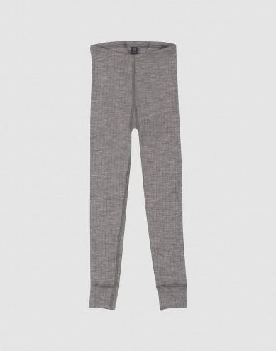 Children's ribbed leggings- grey melange