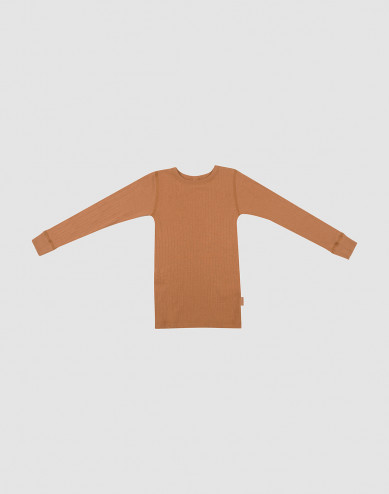 Children's wool rib top- Caramel